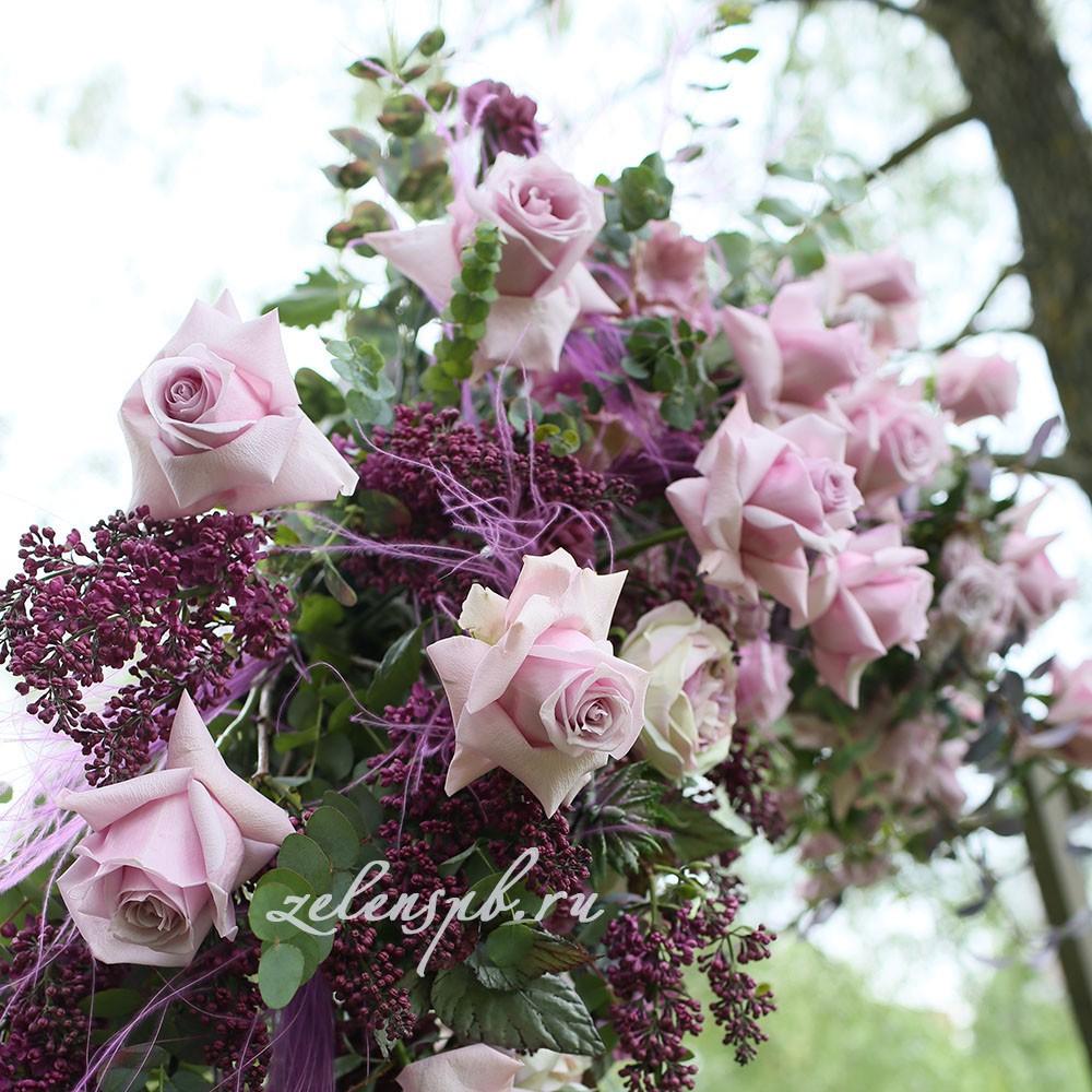Свадьба в винно-розовых тонах. Букет для невесты.