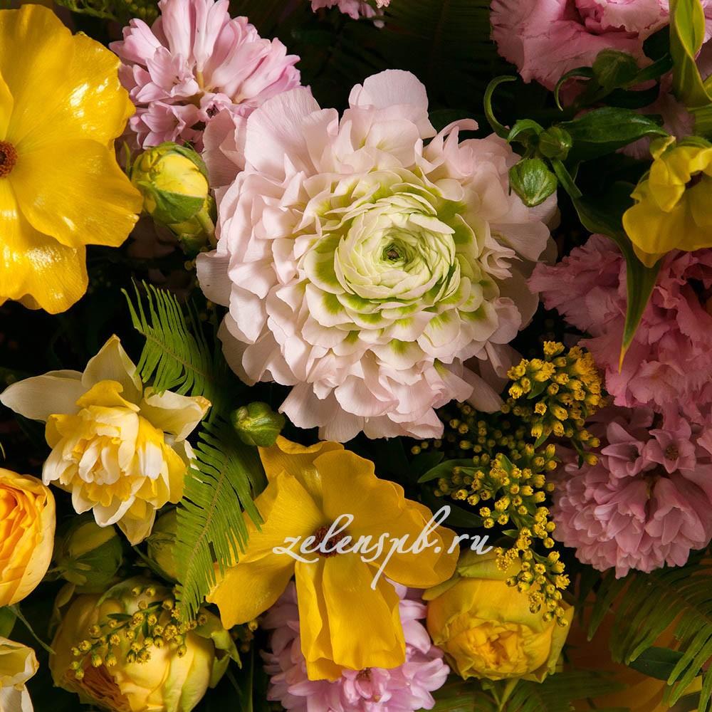 Букет розово-желтой гамме №15 - цветы в Спб