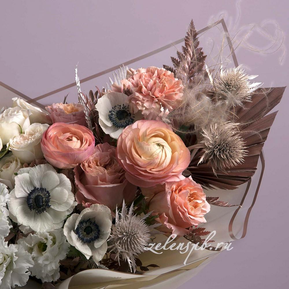 Букет в пудровой гамме №5 - цветы в Спб