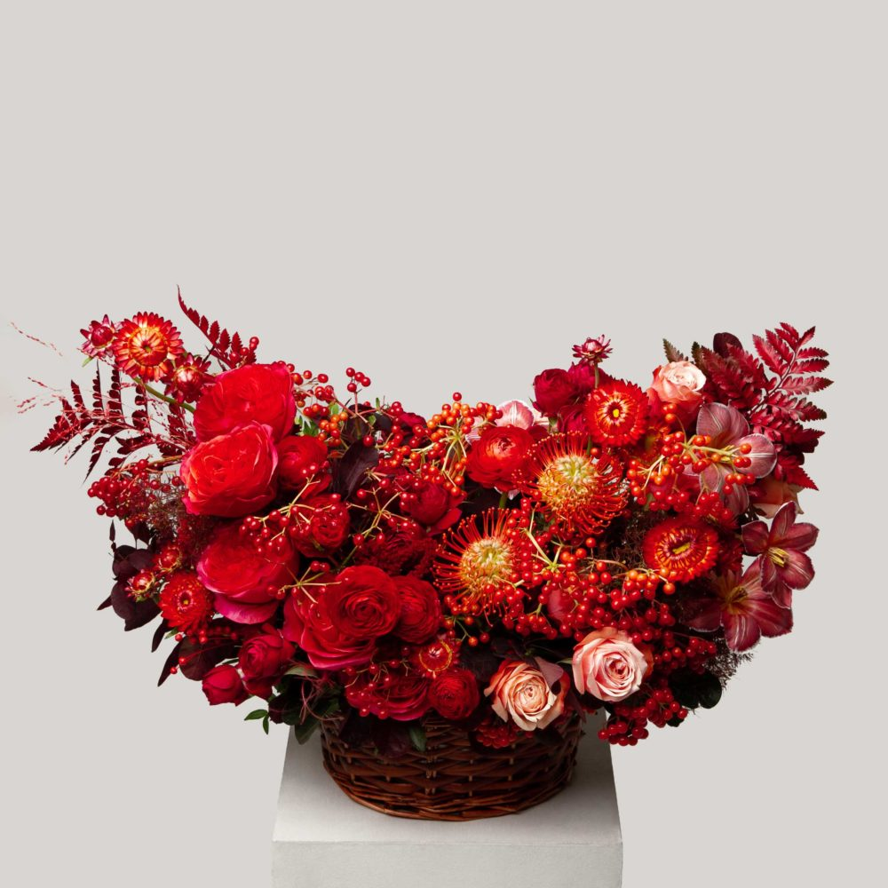 Корзина осенняя №6 - купить цветы в Санкт Петербурге