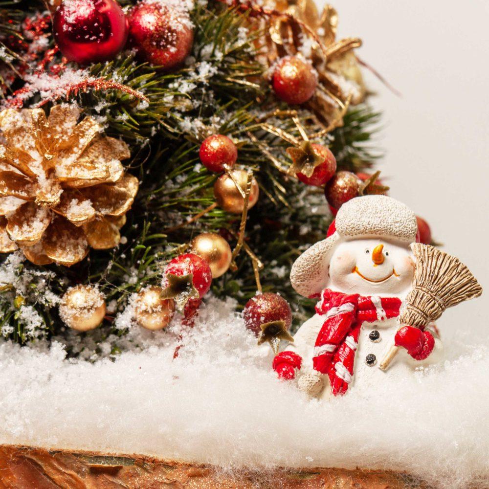 Елка со снеговиком №15 - цветы в Спб