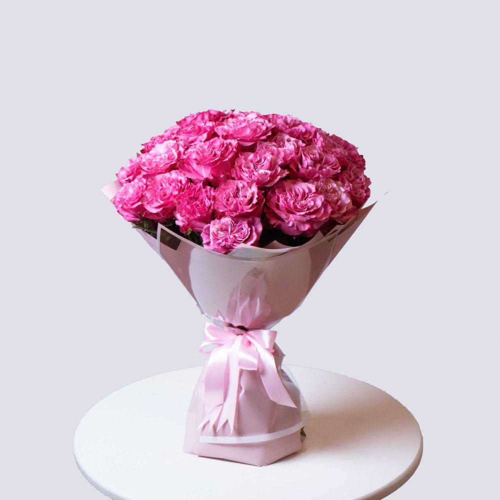 Монобукет из розовых роз №6 - купить цветы в Санкт Петербурге