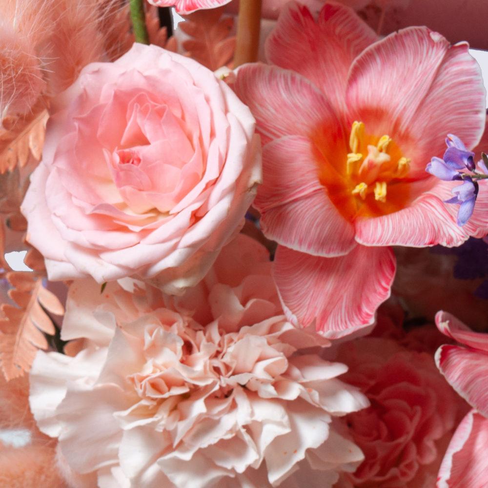 Ящик в лавандово-персиковой гамме №17 - цветы в Спб