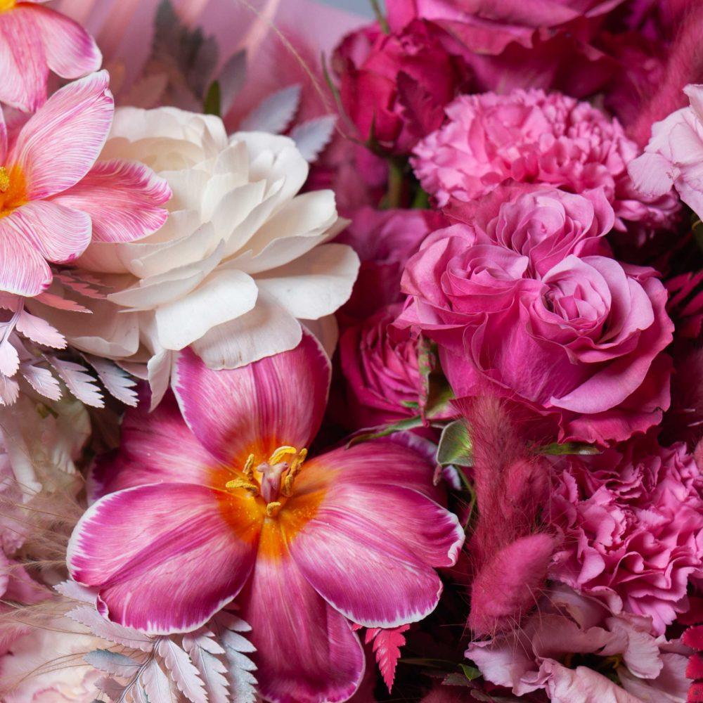 Букет в розовой гамме №32 - цветы в Спб