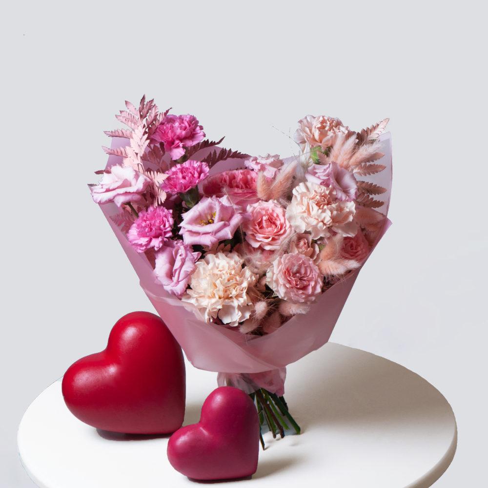 Букет в розовой гамме №31 - купить цветы в Санкт Петербурге