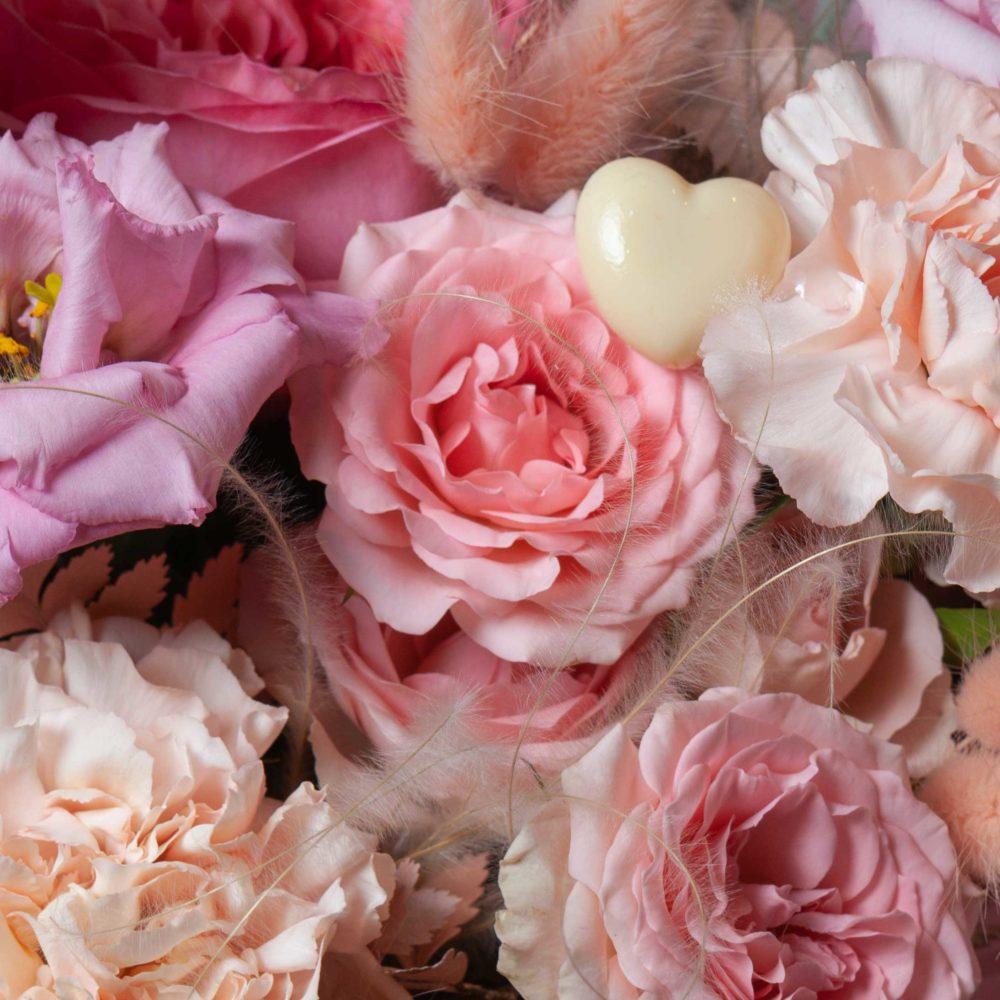 Букет в розовой гамме №31 - цветы в Спб