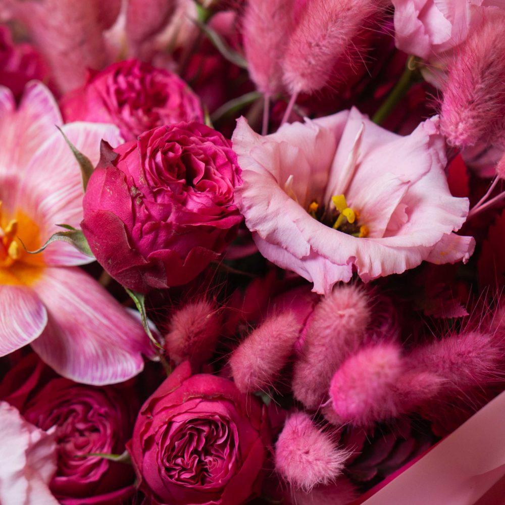 Букет в розовой гамме №30 - цветы в Спб