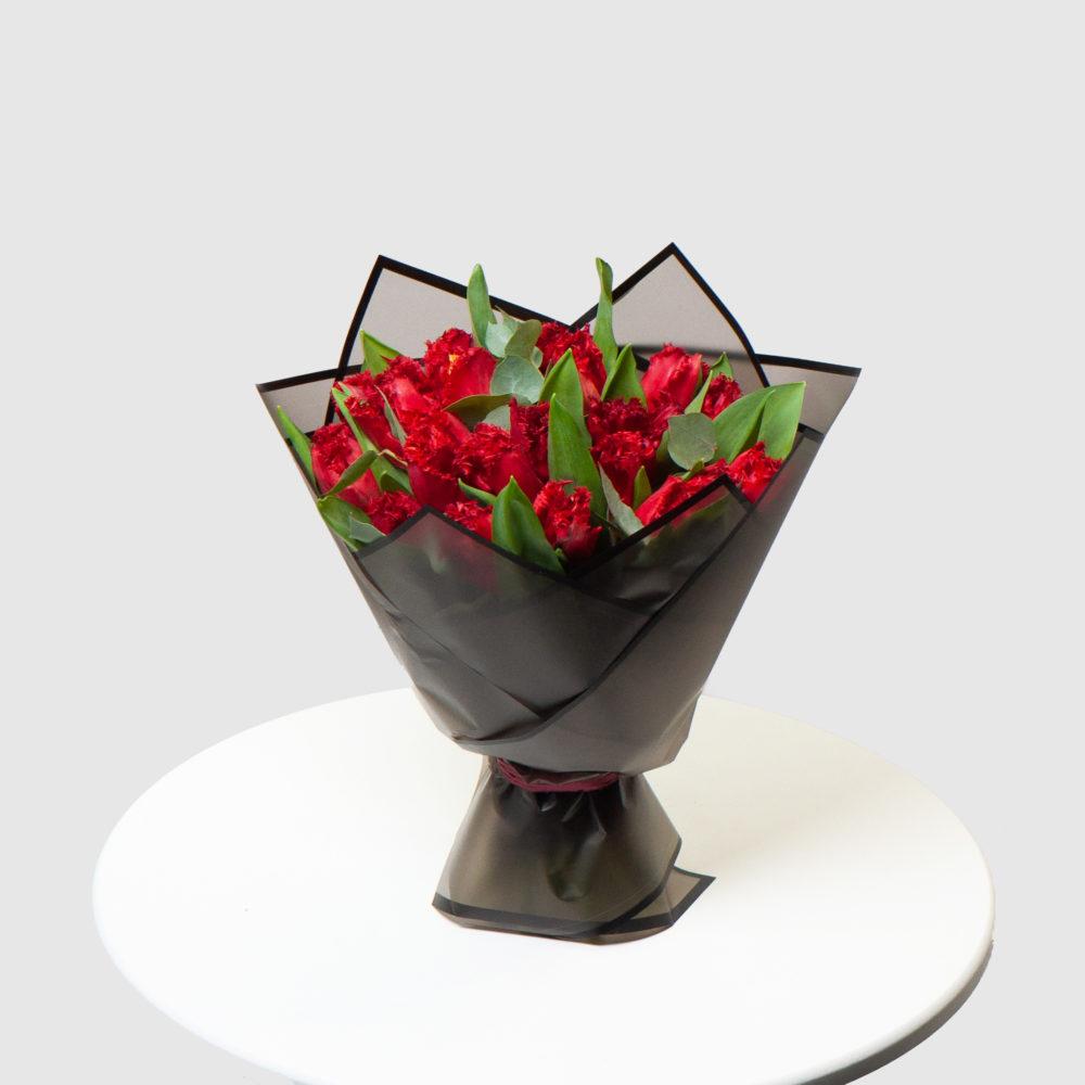 Монобукет из красных тюльпанов №11 - купить цветы в Санкт Петербурге