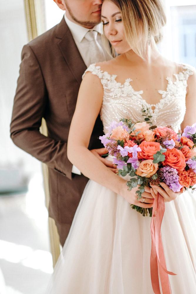 Свадебный букет ранункулюсами и гиацинтами №3 - цветы в Спб