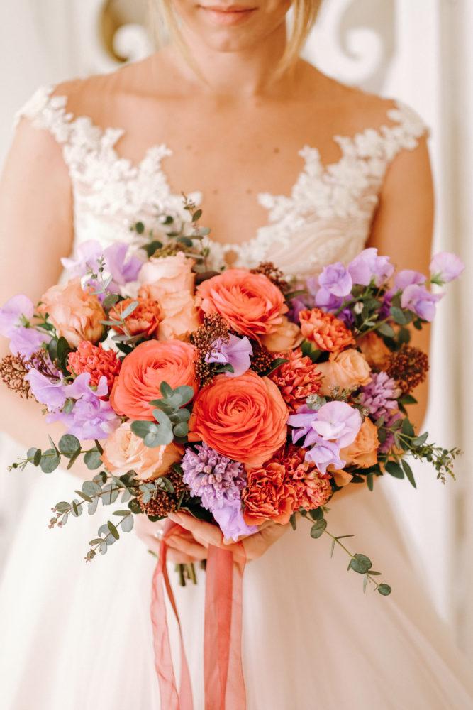 Свадебный букет ранункулюсами и гиацинтами №3 - купить цветы в Санкт Петербурге