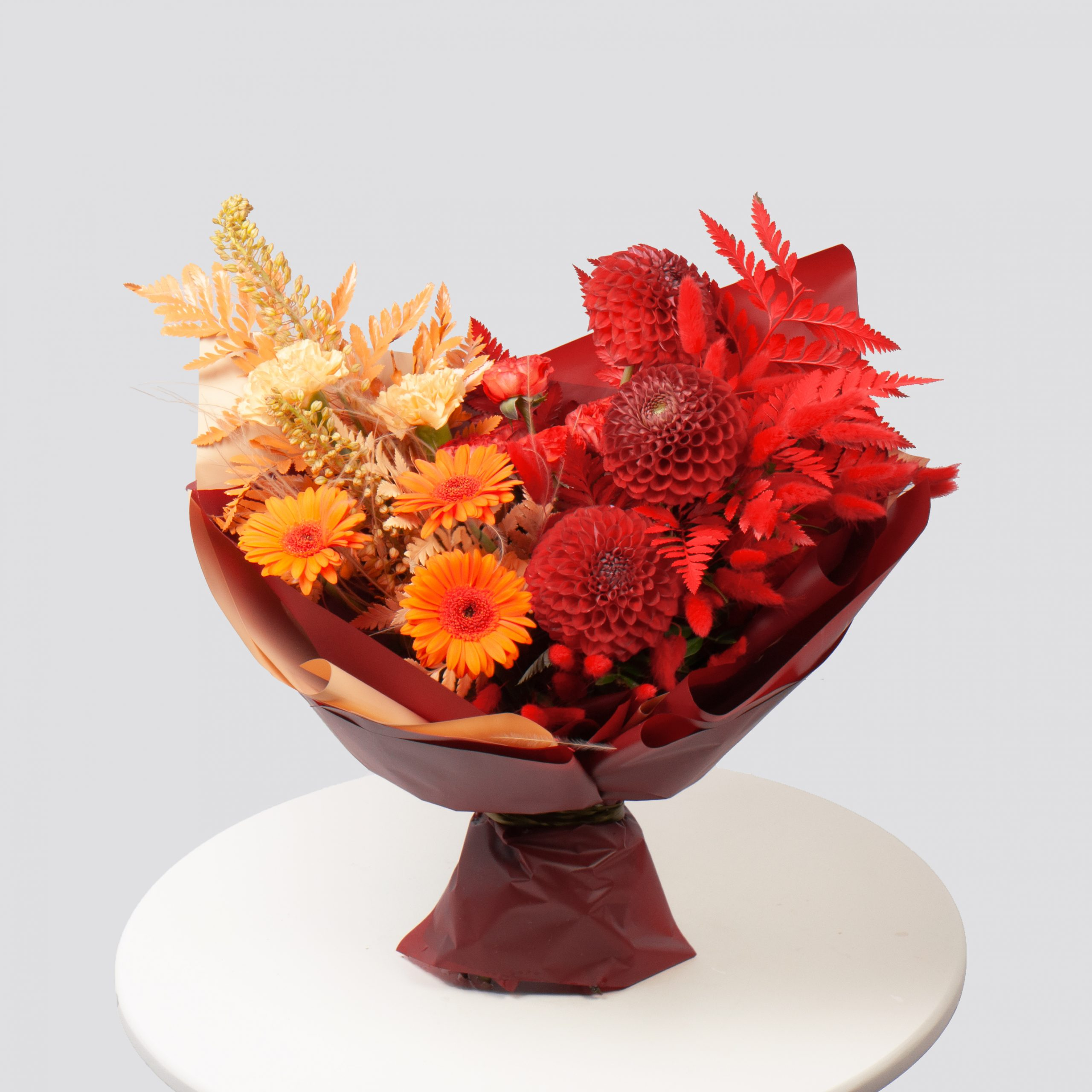 Букет в оранжево-желтой гамме №57 - купить цветы в Санкт Петербурге