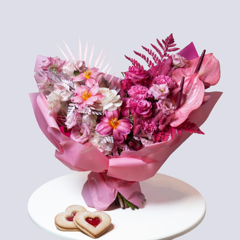 Букет в розовой гамме №32 - купить цветы в Санкт Петербурге