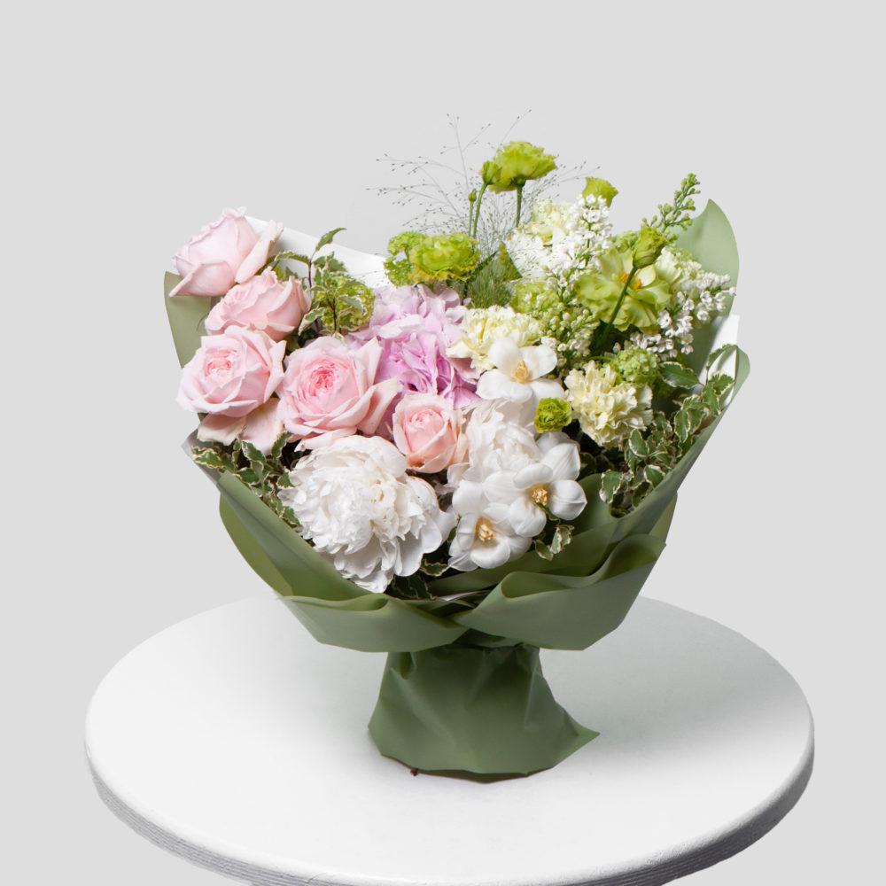 Букет в зелено-розовой гамме №46 - купить цветы в Санкт Петербурге