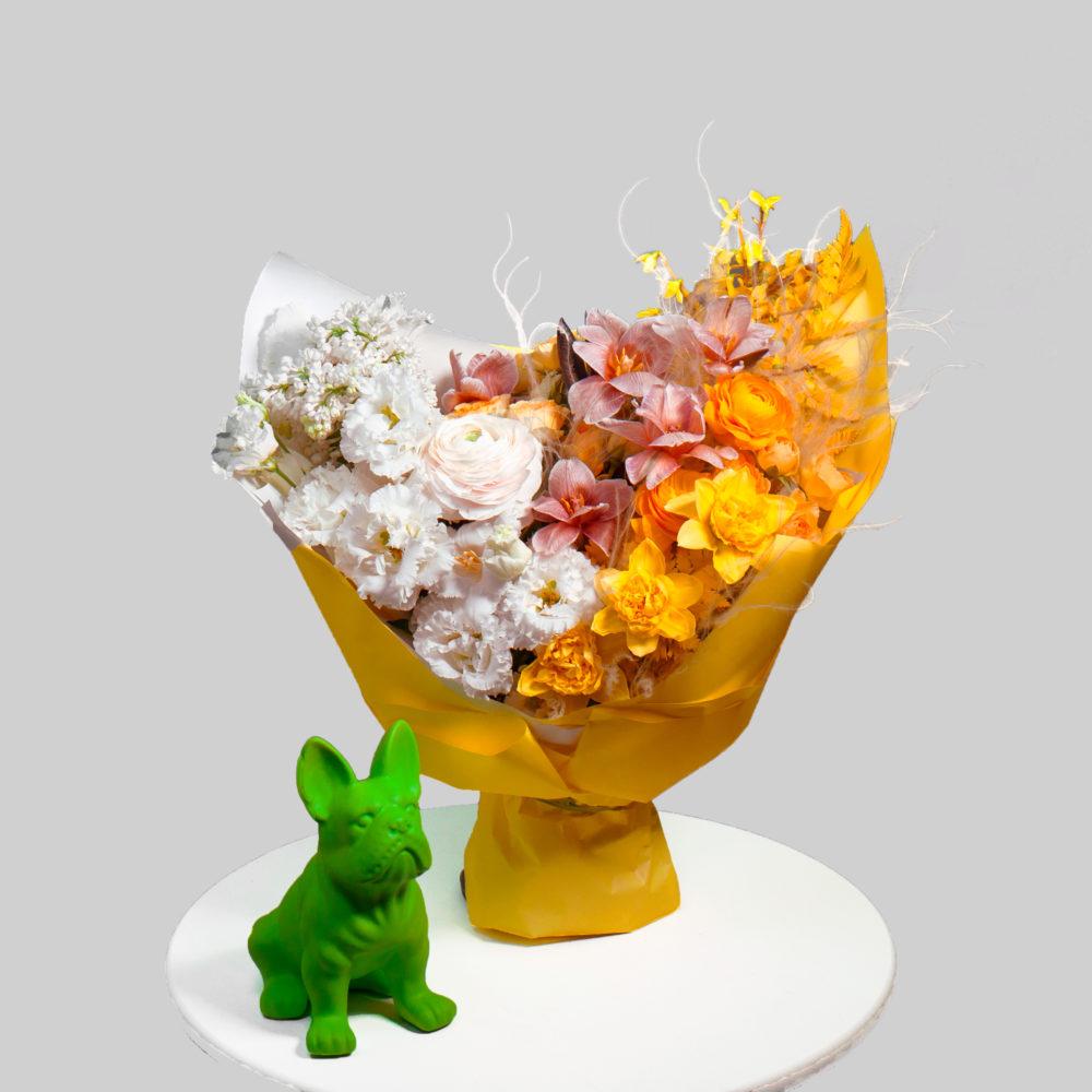 Букет в бело-желтой гамме №41 - купить цветы в Санкт Петербурге