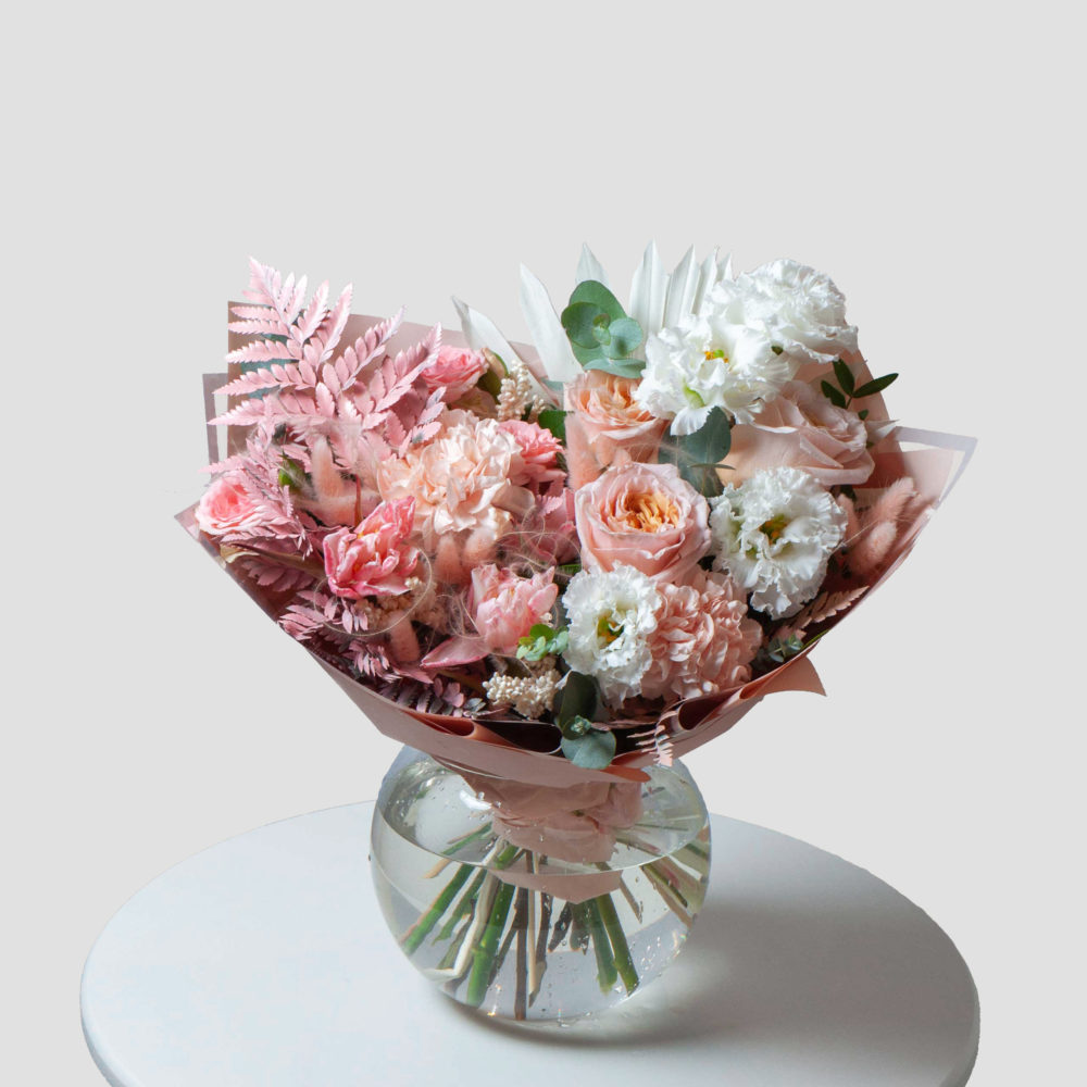 Букет в бело-розовой гамме №27 - купить цветы в Санкт Петербурге