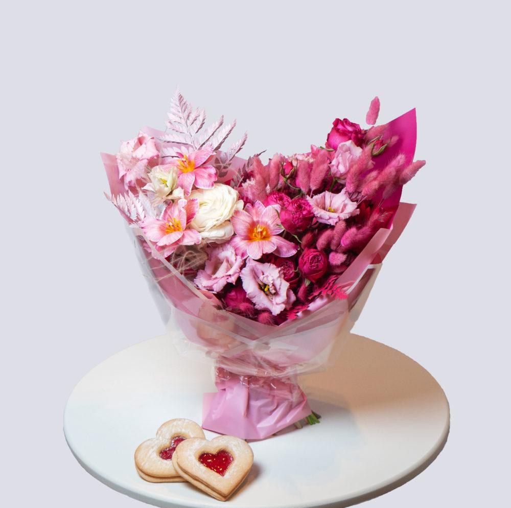 Букет в розовой гамме №30 - купить цветы в Санкт Петербурге