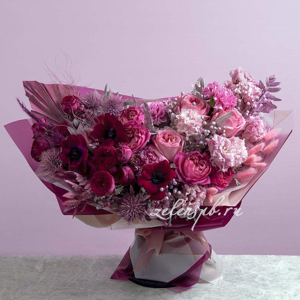 Букет в малиновой гамме №7 - купить цветы в Санкт Петербурге